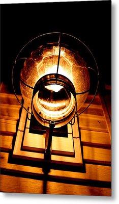 Onion Lamp At Night Metal Print by Robert Morin