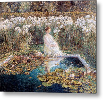 Lilies Metal Print by Childe Hassam