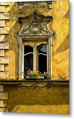 Open Window Metal Print by Robert Meyerson