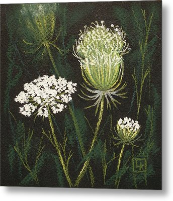 Opening Lace Metal Print by Lisa Kretchman
