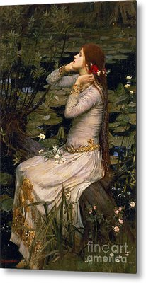 Ophelia Metal Print by John William Waterhouse