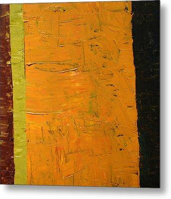 Orange And Brown Metal Print by Michelle Calkins