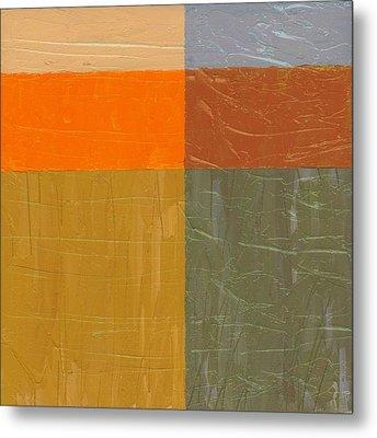 Orange And Grey Metal Print by Michelle Calkins