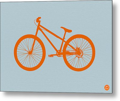 Orange Bicycle  Metal Print by Naxart Studio