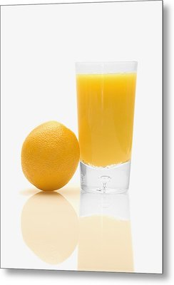 Orange Juice Metal Print by Darren Greenwood