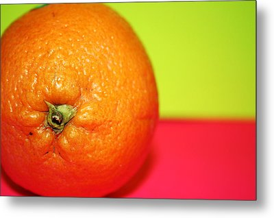 Orange Metal Print by Linda Sannuti