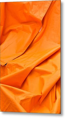 Orange Material Metal Print by Tom Gowanlock