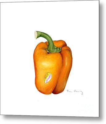 Orange Pepper Metal Print by Fran Henig