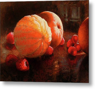 Oranges And Raspberries Metal Print by Timothy Jones