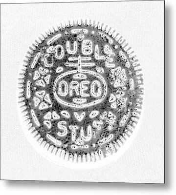 Oreo In Negetive Metal Print by Rob Hans