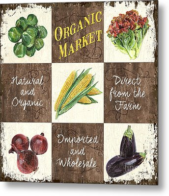 Organic Market Patch Metal Print by Debbie DeWitt