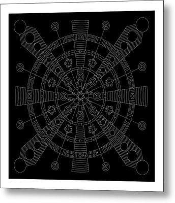 Origin Inverse Metal Print by DB Artist