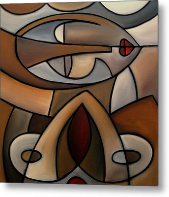 Original Cubist Art Painting - Mama Metal Print by Tom Fedro - Fidostudio