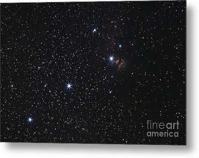Orions Belt, Horsehead Nebula And Flame Metal Print by Luis Argerich