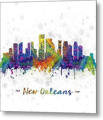 Orleans Louisiana Color 03sq Metal Print by Aged Pixel