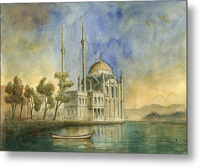 Ortakoy Mosque Istanbul Metal Print by Juan Bosco