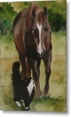 Oscar And Friend Metal Print by Jean Blackmer