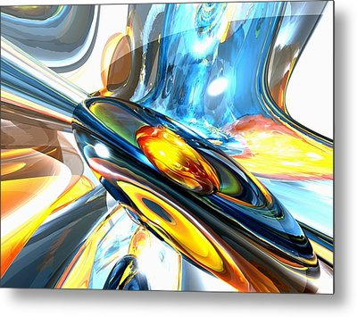 Oscillating Color Abstract Metal Print by Alexander Butler