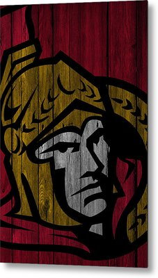 Ottawa Senators Wood Fence Metal Print by Joe Hamilton