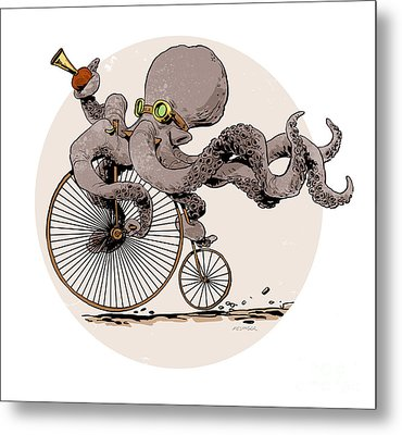 Otto's Sweet Ride Metal Print by Brian Kesinger