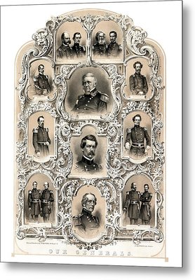 Our Generals -- Union Civil War Metal Print by War Is Hell Store