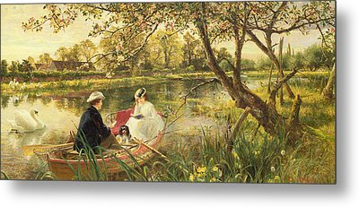 Our Holiday Metal Print by Charles James Lewis