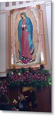 Our Lady Of Guadalupe Detail Metal Print by Patrick RANKIN