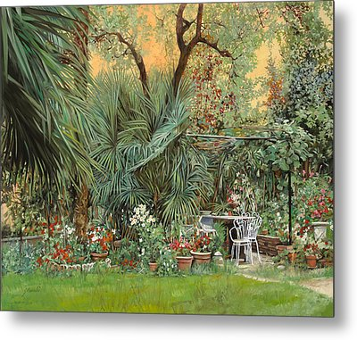 Our Little Garden Metal Print by Guido Borelli
