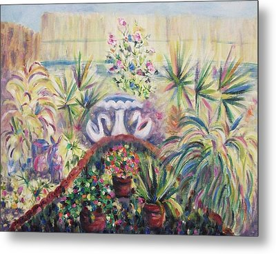Our Private Yard Metal Print by Suzanne  Marie Leclair