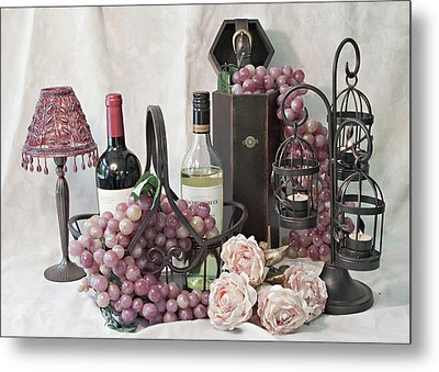 Our Wine Cellar Metal Print by Sherry Hallemeier