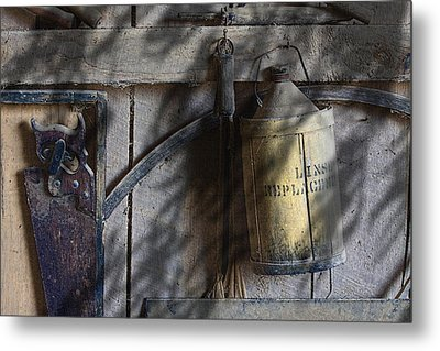 Out In The Barn Metal Print by Tom Mc Nemar