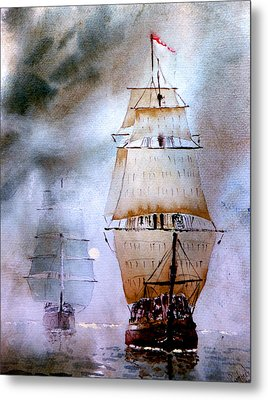 Out Of The Mist Metal Print by Steven Ponsford