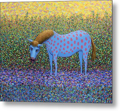 Out Of The Pasture Metal Print by James W Johnson
