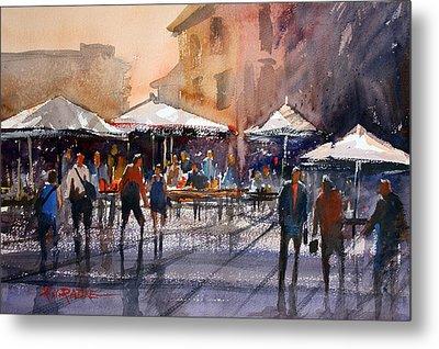Outdoor Market - Rome Metal Print by Ryan Radke