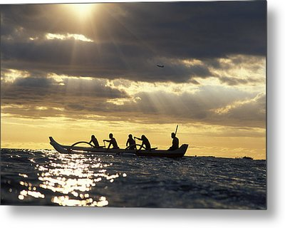Outrigger Canoe Metal Print by Vince Cavataio - Printscapes