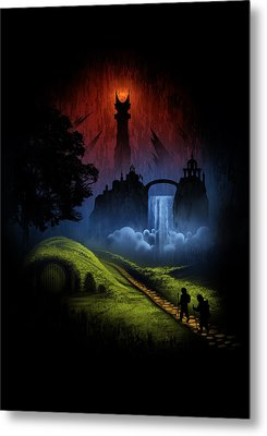 Over The Hill Metal Print by Alyn Spiller