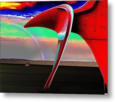 Over The Rainbow Metal Print by Tim Allen
