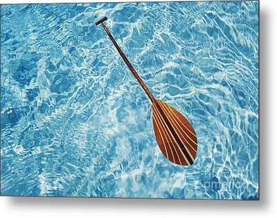 Overhead View Of Paddle Metal Print by Joss - Printscapes