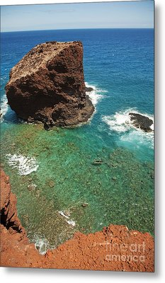 Overlooking Puu Pehe II Metal Print by Ron Dahlquist - Printscapes