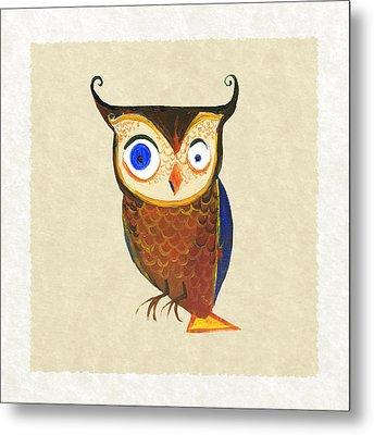 Owl Metal Print by Kristina Vardazaryan