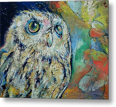 Owl Metal Print by Michael Creese