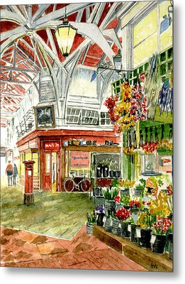 Oxford's Covered Market Metal Print by Mike Lester