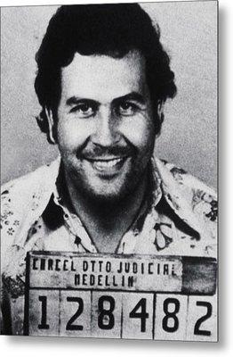 Pablo Escobar Mug Shot 1991 Vertical Metal Print by Tony Rubino