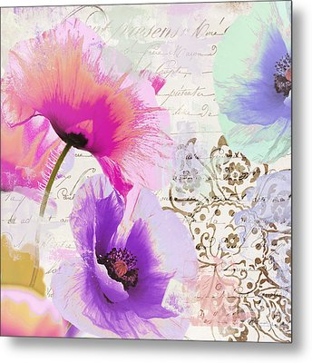 Paint And Poppies Metal Print by Mindy Sommers