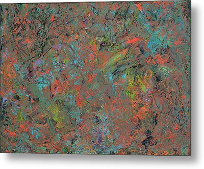 Paint Number 17 Metal Print by James W Johnson