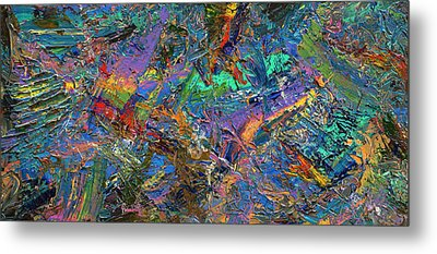 Paint Number 28 Metal Print by James W Johnson