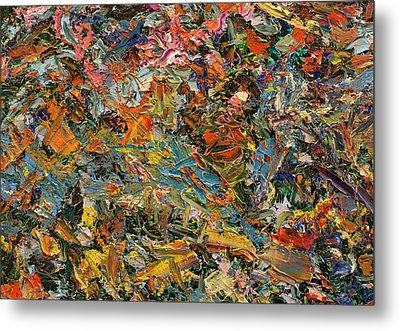 Paint Number 35 Metal Print by James W Johnson