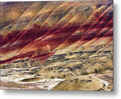 Painted Hills Contour Metal Print by Mike  Dawson