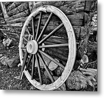 Painted Wagon Metal Print by Ed Boudreau