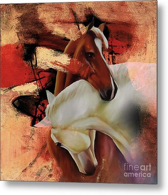 Pair Of Horse 04 Metal Print by Gull G